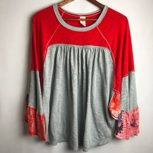 Free people oversized patchwork top